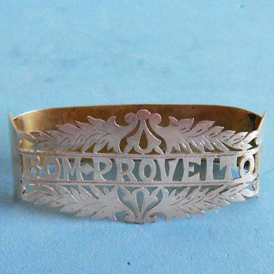 L@@k Beautiful Antique Sterling SILVER Pierced Bom Proveito Napkin Ring