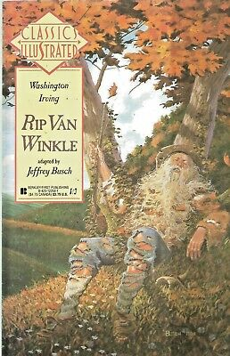 Classics Illustrated #11  Rip Van Winkle  First Publishing 1990 Nice!!