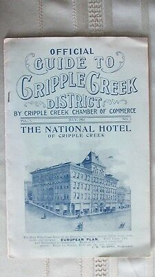 1902 Official Guide To Cripple Creek District Colorado-Mine Photographs-Railroad