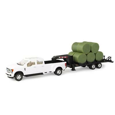 John Deere 1/32 Ford F-350 with Gooseneck Trailer and Bales Toy - LP68114
