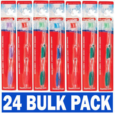 24 Individual Bulk Pack Hotel B&B Wholesale Adult Toothbrush Toothbrushes UK