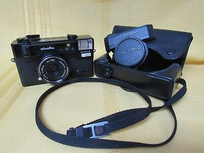 Minolta Hi-Matic AF2 AUTO FOCUS Camera with Case - Japan - Vintage