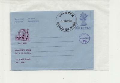 Isle of Man 1980 Stampex overprinted Airletter with handstamp