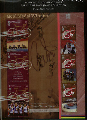 Isle of Man 2012 Gold Medal Winners at Olympics Sheet, 1645 of 2012 issued