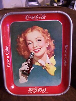 """Vintage Coca Cola advertising serving tray  white glove """"Have a Coke"""""""