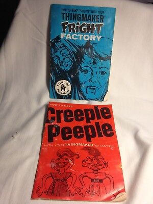 1965-1966 Mattel Thingmaker Instructions for Fright Factory and Creeple Peeple