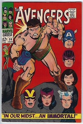 AVENGERS #38 (1967)  VFN+ 8.5 Unstamped cents
