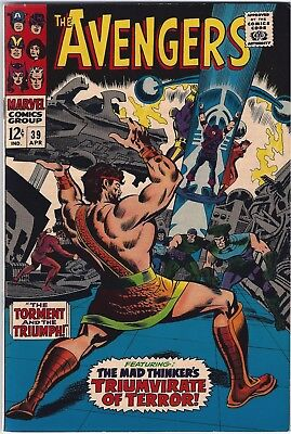 AVENGERS #39 (1967)  VFN+ 8.5 Unstamped cents