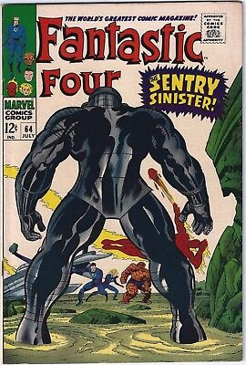 FANTASTIC FOUR #64 (1967)  VFN 8.0 Unstamped cents