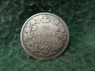 1871  Canada  25 Cents SILVER Quarter   Gorgeous 25 Cents SILVER Coin