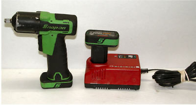 """Snap-On Micro 3/8"""" Impact Wrench w 2 14.4 Lithium Batteries & Charger"""