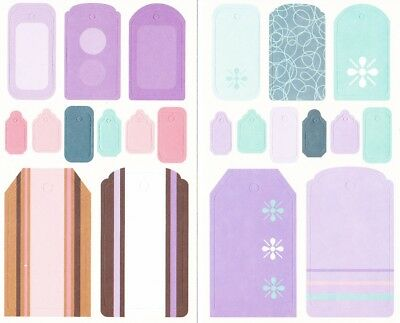 Pack of 88 Cardboard Tag Punch-Out embellishments Scrapbooking **FREE POSTAGE**