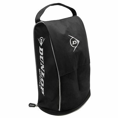 Dunlop Unisex Golf Shoe Bag Zipped Carry Handle Logo Training Sports Accessory