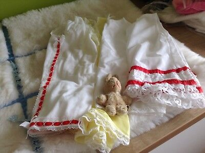 GIRLS VINTAGE  FOUR UNDER SLIP  PETTICOAT BUNDLE UNUSED 3/9m 1970s AUTHENTIC