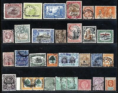 British Commonwealth Early Stamps Issues Fine Used / Mint Lot.  A790