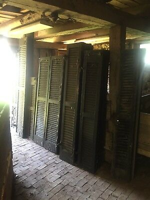 29 Farm House Shutters antique wood 1800s vintage colonial reclaimed barn used