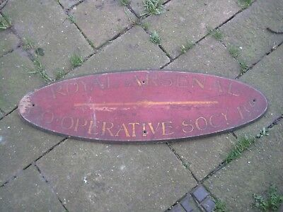 "Very Rare Antique Sign"" ROYAL ARSENAL CO-OPERATIVE SOCIETY"" LTD WOOLWICH"
