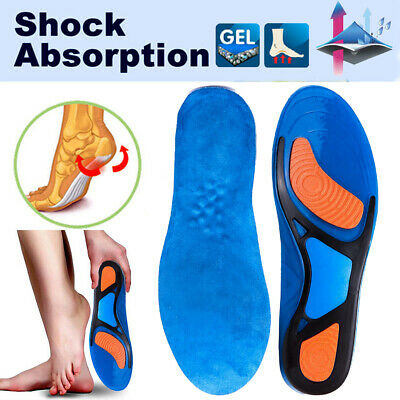 Sports Running Shoe Insoles Shock Absorb Olympic Inner Sole Arch Foot Support HT
