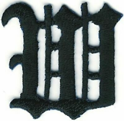"""1 1//8/"""" Fancy Red Old English Alphabet Letter D Embroidered Patch"""