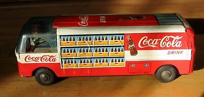 1950's Coke Coca Cola Tin Friction Delivery Van I Believe Made By Taiyo Toys