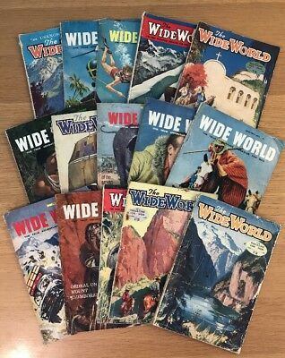 The Wide World Magazine for Men 15x Issues 1950s - 1960s