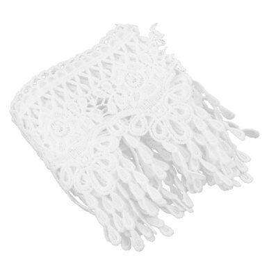 Polyester Handmade Sewing Craft Clothes Skirt Decor Lace Trim White 11cm Width