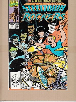 Steeltown Rockers #5 1990 -Small Town Teens Form A Rock Band- Lee/leialopha...vf