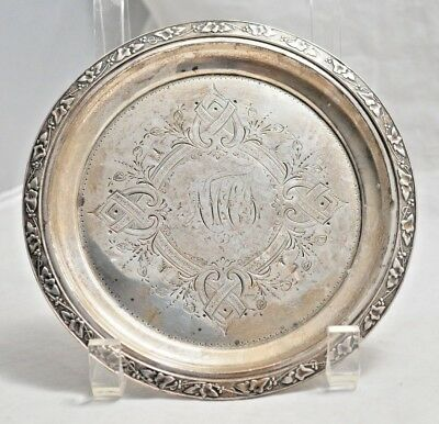 Antique Victorian Krider Sterling Silver Sm. Plate or Wine Coaster Not Scrap