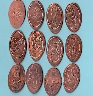 [Z] #1 ~ LOT of 12 ~ DISNEY ~ ALL DIFFERENT DESIGNS ... PENNY