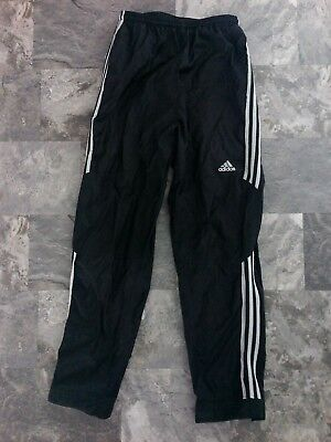 pants ADIDAS athletic workout warm up running wind black adult small