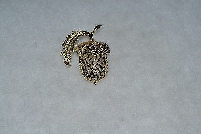 Sarah Coventry - Golden Acorn Brooch  Pin - 6639 - April 1973 - Vintage
