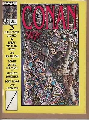 Conan Saga  #2 1987 Marvel B&w -Swords/ Sorcerer-Thomas/ B.smith...fn+