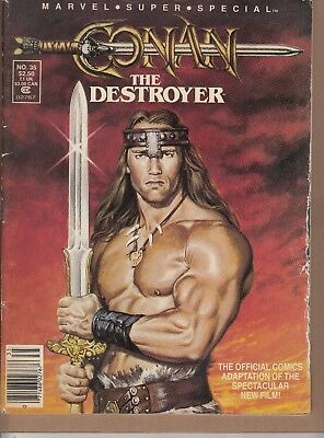 Marvel Super Special  #35 1984 ''conan The Destroyer'' -Thomas/ Conway...vg