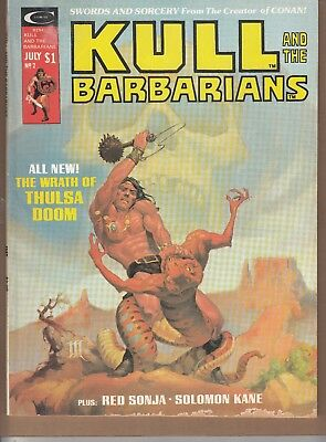 Kull And The Barbarians  #2 1975 -Red Sonja/ Solomon Kane- Thomas / Romita...fn