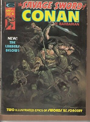 Savage Sword Of Conan #6 1975 B&w 'swords/sorcery'-Barbarian-Thomas/romita...fn