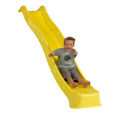 2.28m YELLOW Playground Slide + Water Feature Cubbyhouse Kids Play Equipment