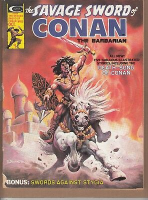 Savage Sword Of Conan #8 1975 B&w 'swords/sorcery'-Barbarian-Thomas/romita...vg+