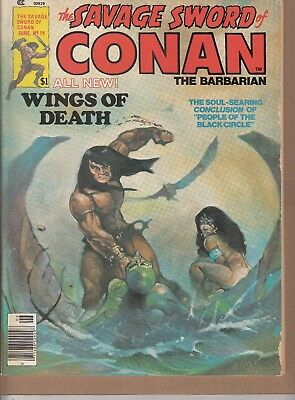 Savage Sword Of Conan #19 1977 B&w 'swords/sorcery'-Barbarian-Thomas/romita..fn-