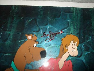 Hanna Barbera Shaggy & Scooby hand Signed Voice Don Messick production cels