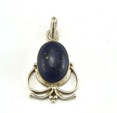 Beautiful Vintage Sterling Silver Lapis Pendant