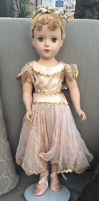 Madame Alexander Hard Plastic Ballerina Doll Tagged Outfit 17""