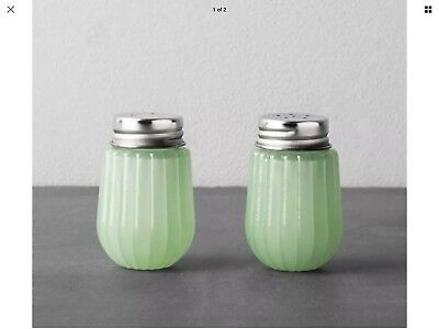 New Hearth and Hand with Magnolia JADEITE GREEN SALT & PEPPER SHAKERS