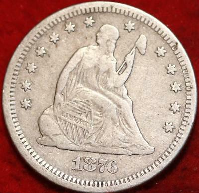 1876-S San Francisco Mint Silver Seated Liberty Quarter