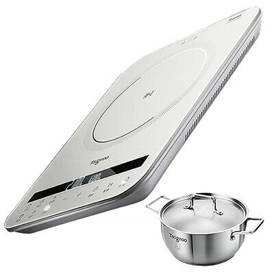 Electric Induction Portable Cooktop Hot Plate Kitchen Cooker Silver