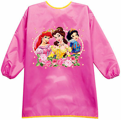 NEW Kid Girl Child water resist Princess Bib School Apron Art Paint Smock Shirt