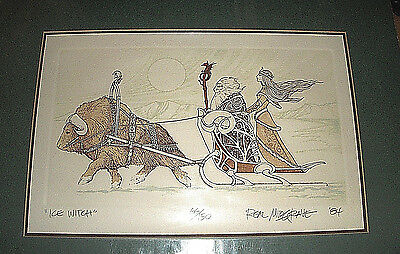 Real Musgrave SIGNED Numbered & Matted Print 1984 - ICE WITCH #66/150 BEAUTIFUL!