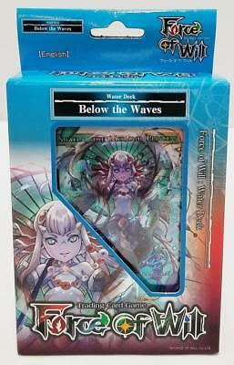 BELOW THE WAVES Water Starter Deck FORCE OF WILL Reiya Cluster SEALED English