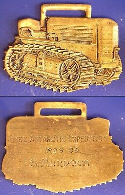 1929-1930 Byrd Antarctic Expedition Cletrac Tractor/Dozer Fob award to S Murdoch