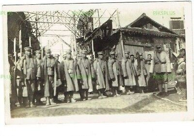 Old Postcard Chinese Soldiers Nanjing / Nanking Incident China Real Photo 1927