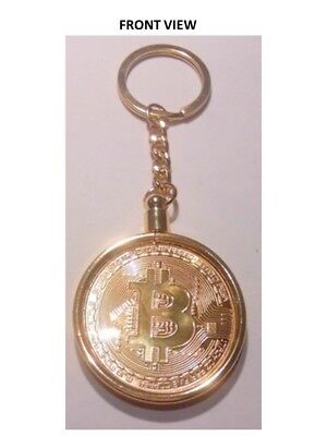 Bit Coin Token Key Chain Gold Plated Over Metal